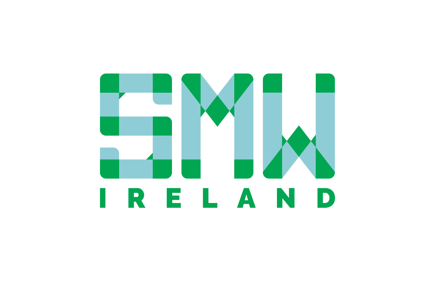 SMW Ireland logo design green and blue