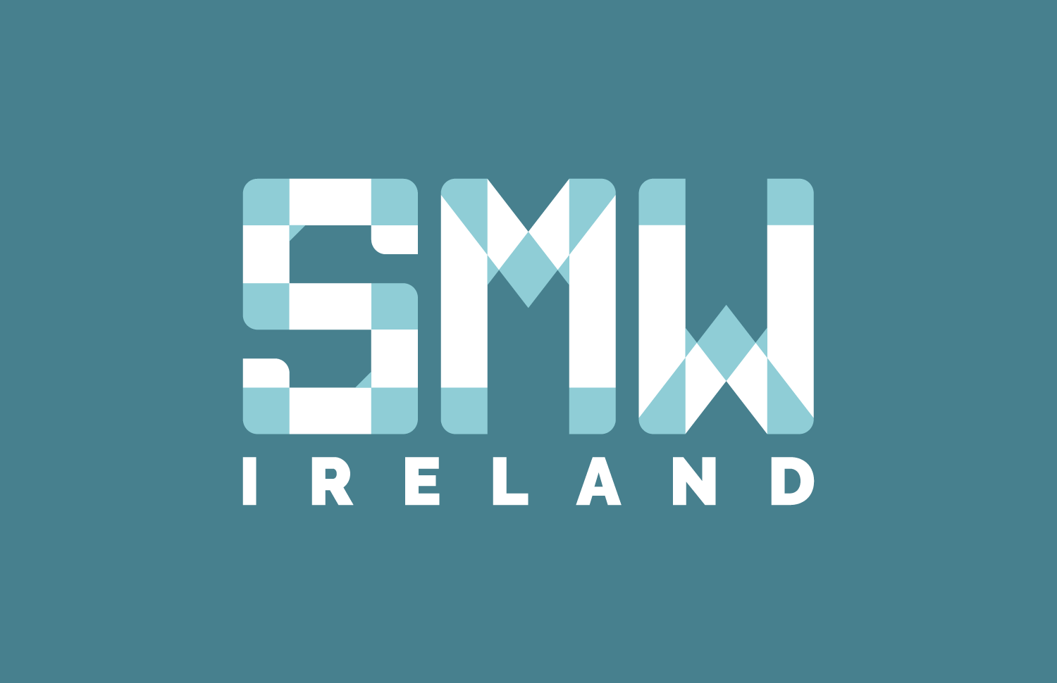 SMW Ireland logo design dark background