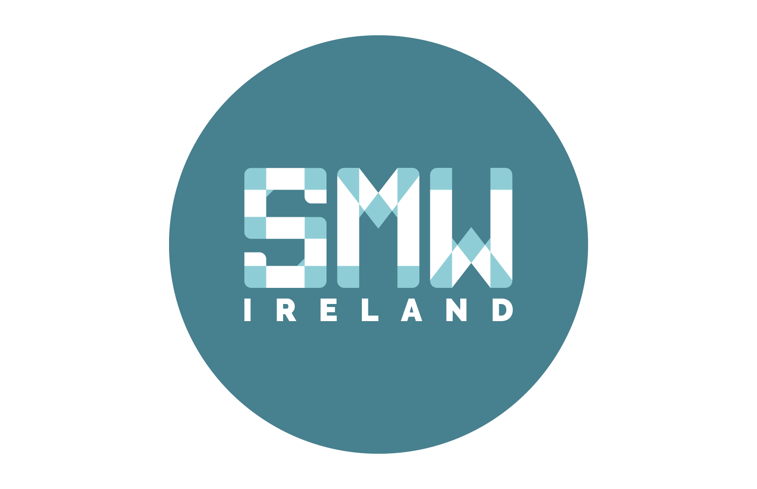 SMW Ireland logo design round background