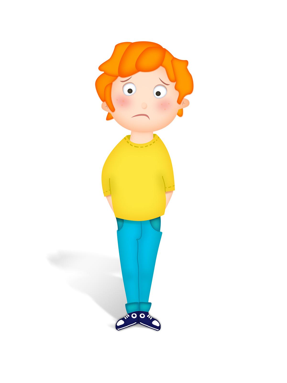Sad Boy Illustration