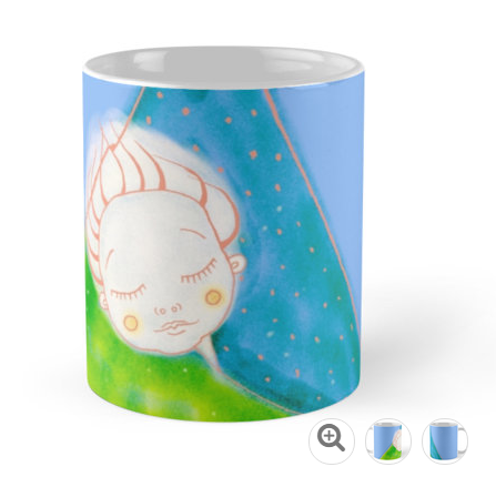 Illustration painting cup