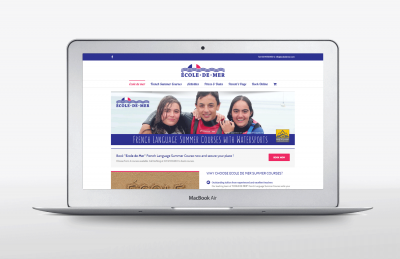 Ecole De Mer Website design landing page
