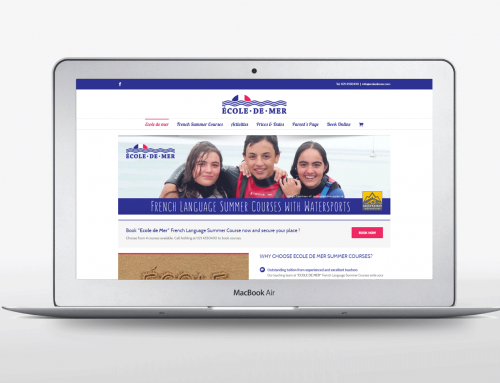 Ecole De Mer Website design