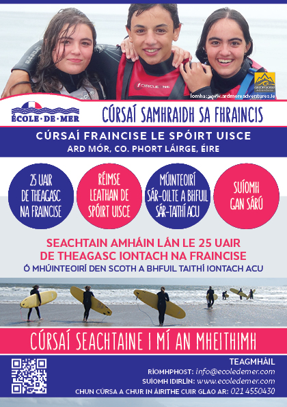 Ecole De Mer flyer design Irish