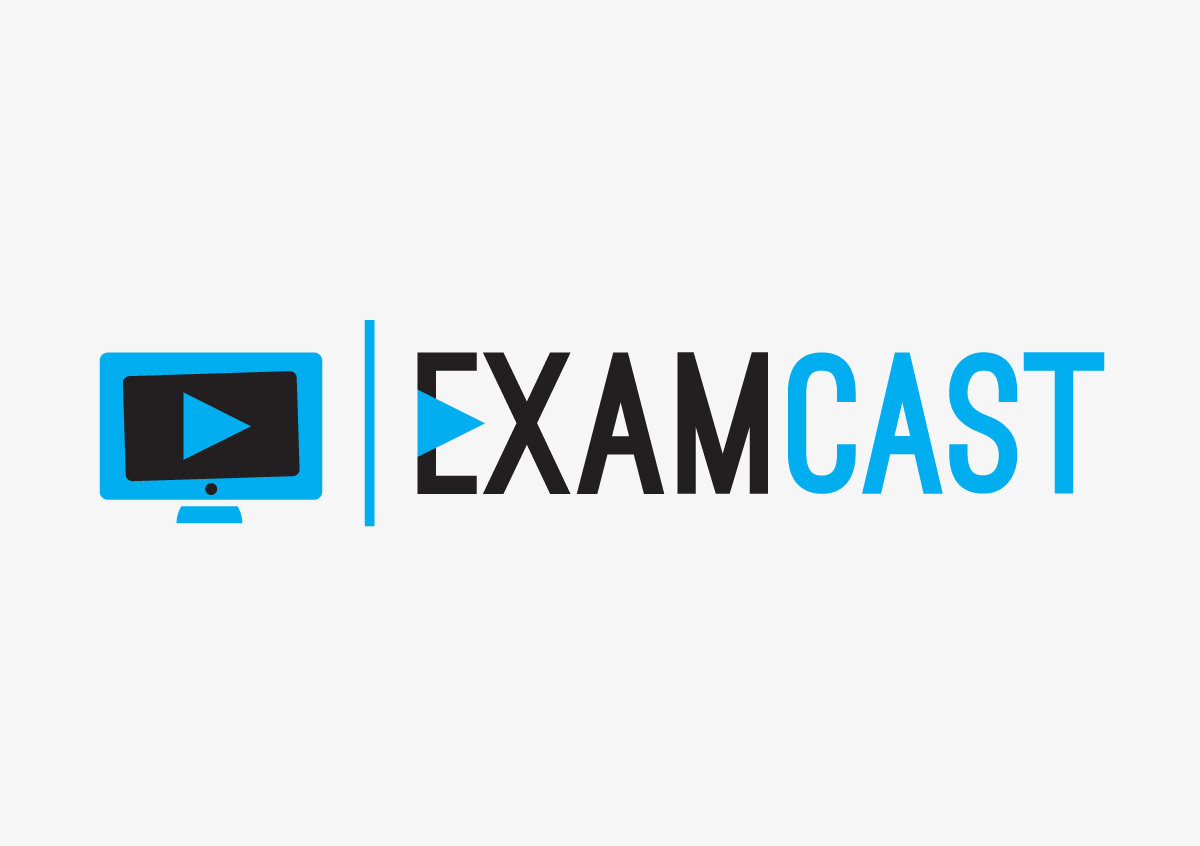 ExamCast logo design screen